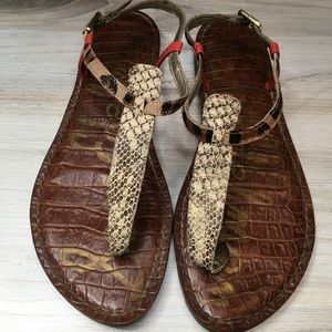 . Sam Edelman Gigi Sandals Leather Snake